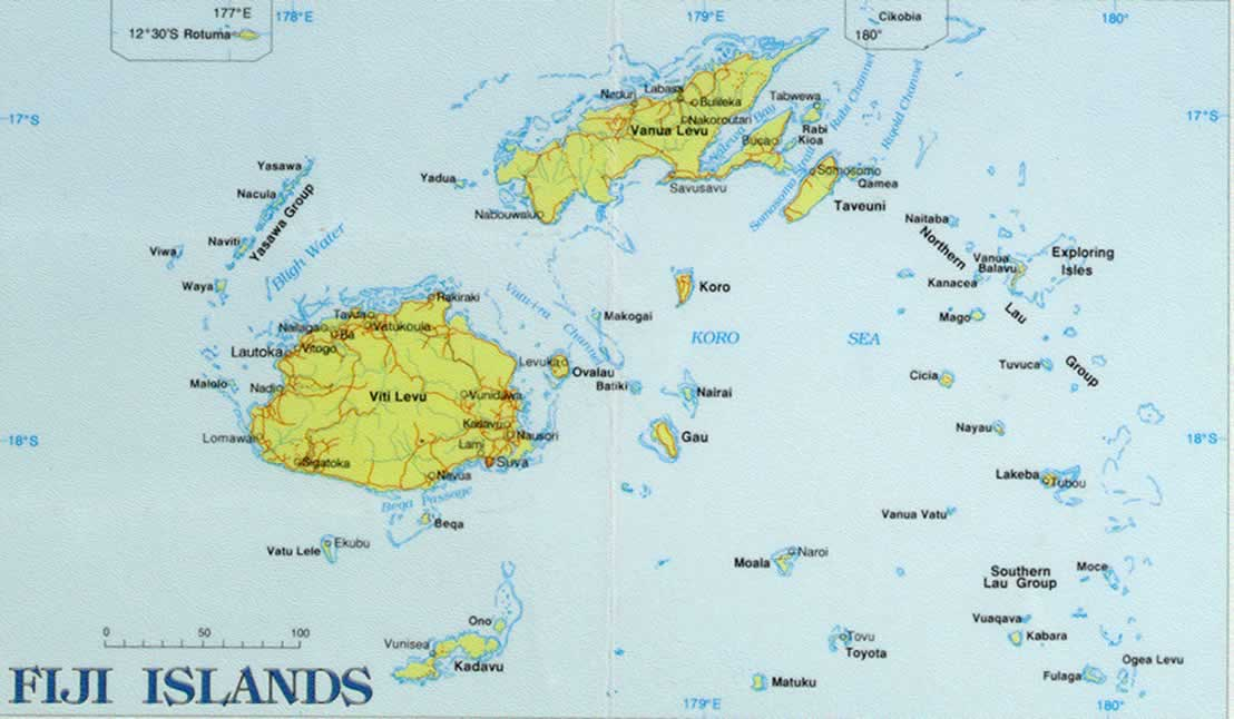 Islands Of Fiji On World Map Location Pictures to Pin on Pinterest ThePinsta